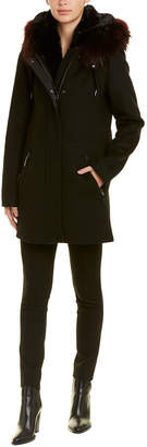 Dawn Levy Tiffany Wool-Blend Coat