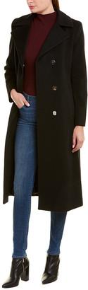 Sofia Cashmere sofiacashmere Sofiacashmere Wool-Blend Long Coat