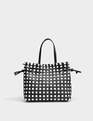 Furla Stacy Casanova Medium Tote Bag in Onyx and Petalo Calfskin