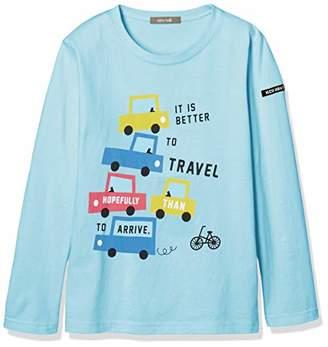 nico hrat (ニコ フラート) - [ニコフラート] Tシャツ 車 ロングTシャツ 290201 サックス 日本 110 (日本サイズ110 相当)