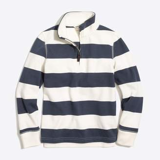 J.Crew Factory Boys' striped sueded half-zip popover sweatshirt