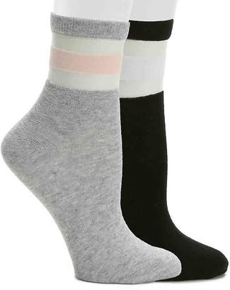 Aldo Mesh Stripe Ankle Socks - 2 Pack - Women's