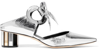 Proenza Schouler - Mirrored-leather Mules - Silver $995 thestylecure.com