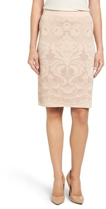 Women's Ivanka Trump Knit Lurex Pencil Skirt $89 thestylecure.com