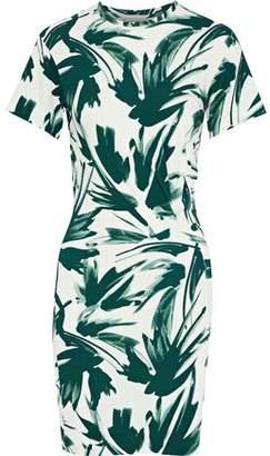 By Malene Birger Ofiniol Gathered Printed Stretch-Jersey Mini Dress
