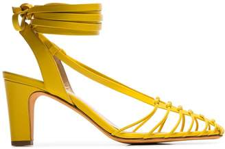 Maryam Nassir Zadeh canary yellow Maribel strappy leather sandals