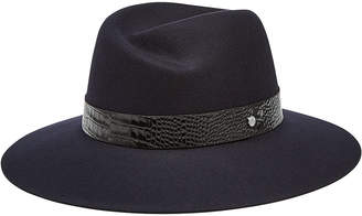 Rag & Bone Wool Fedora with Embossed Leather