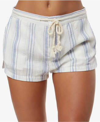 O'Neill Juniors' Katalina Cotton Striped Soft Shorts