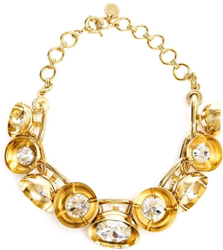 Swarovski Valentina Brugnatelli Silvana Gold-tone Brass and Necklace