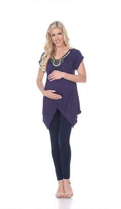 Myla WHITE MARK Maternity 'Myla' Embellished Tunic