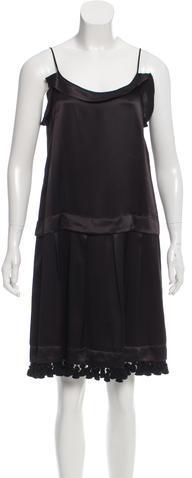 Miu Miu Miu Miu Tassel-Accented Knee-Length Dress