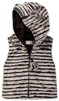 WIDGEON Ear Pompom Faux Fur Vest (Toddler Girls)