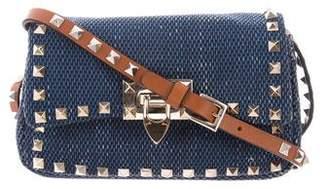 Valentino Denim Rockstud Crossbody Bag