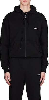 Balenciaga Men's Logo Cotton Zip-Front Hoodie