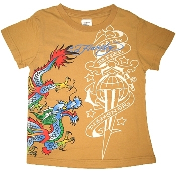 Ed Hardy - Kid's Beige Dragon Tee