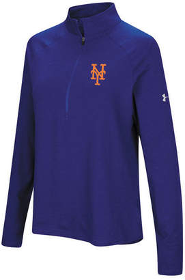 Under Armour Women's New York Mets Passion Half-Zip Pullover