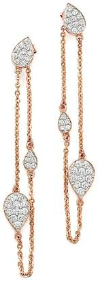 Bloomingdale's Diamond Front-Back Chain Drop Earrings in 14K Rose Gold, .60 ct. t.w. - 100% Exclusive
