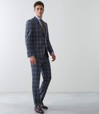 Reiss Bond Slim Fit Checked Trousers