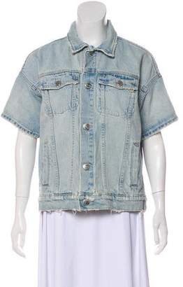 Current/Elliott Short Sleeve Denim Jacket