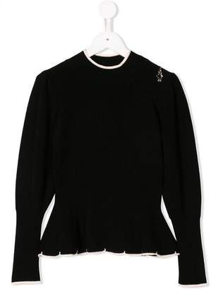 Elisabetta Franchi Kids peplum knit sweater