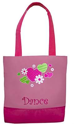 """Sassi Designs Hearts and Flowers Tote Size: 11"""" x 9.5"""" x 3"""""""