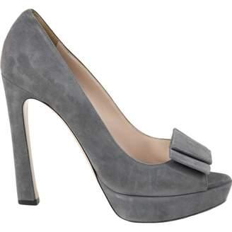 Miu Miu Grey Suede Heels
