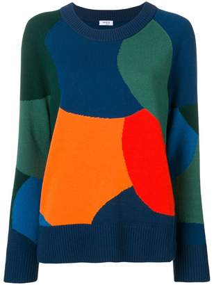 Akris Punto colour block slouchy sweater