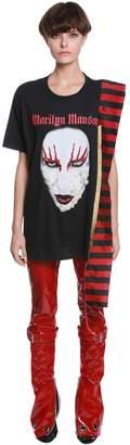 Di Lara Dilara Findikoglu PRINTED & BEADED JERSEY T-SHIRT DRESS