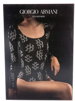 Giorgio Armani Patterned Long Sleeve Bodysuit