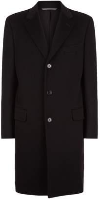 Canali Wool Cashmere Longline Coat