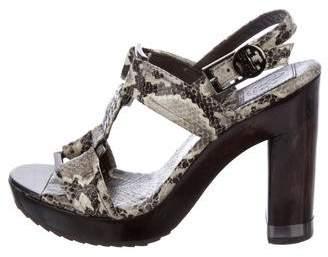 Tory Burch Embossed Slingback Sandals