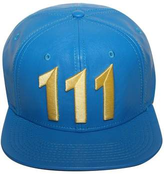 """35535a4f960 Bioworld Men s Licensed Fallout """"111"""" PU Leather Snapback Hat O S"""