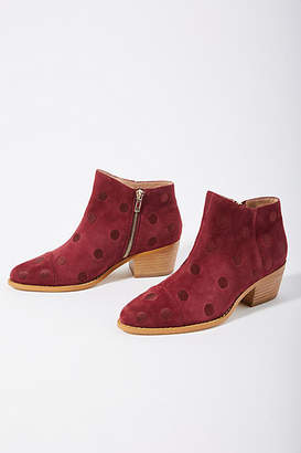Anthropologie Dotted Booties