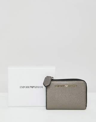 Emporio Armani Zip Around Mini Purse with Hardware