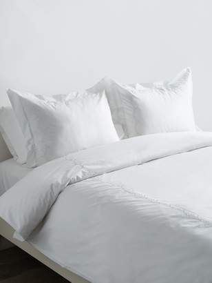 Melange Home Laurel Embroidered Cotton Percale Duvet Set