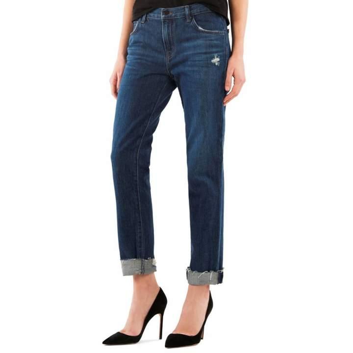 Doubletake Blue Johnny Boyfit Cotton Jeans