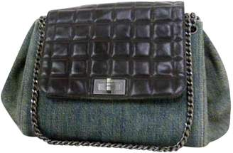 Chanel Vintage Black Denim Jeans Handbag