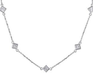 Diamond Select Cuts 14K 1.25 Ct. Tw. Diamond Station Necklace