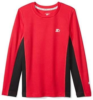 Starter Boys' Long Sleeve Colorblocked Tech T-Shirt