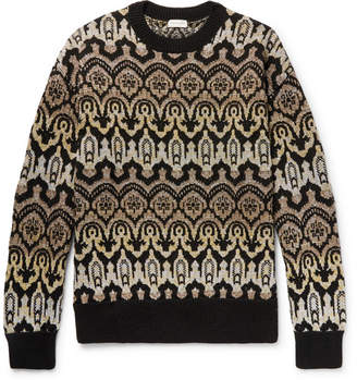 Dries Van Noten Oversized Metallic Wool-Blend Jacquard Sweater
