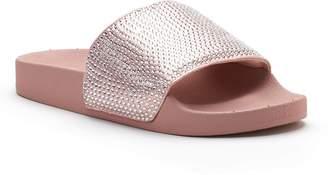 Candies Candie's Women's Rhinestone Slide Sandals