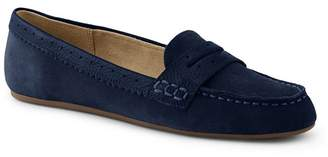 d799fcb77b1 at Debenhams · Lands  End - Blue Wide Suede Comfort Penny Loafers