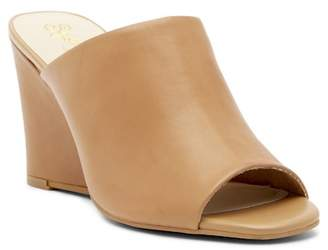 Seychelles Affirmation Leather Wedge Peep Toe Mule