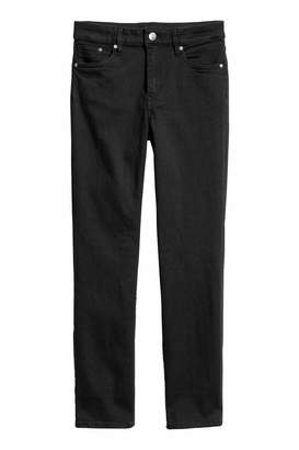 H&M Ankle-length Slim-fit Pants - Black - Women