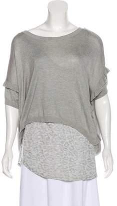 Rebecca Taylor Asymmetrical Short Sleeve Top