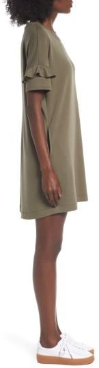 Women's Lush Ruffle Sleeve T-Shirt Dress 4