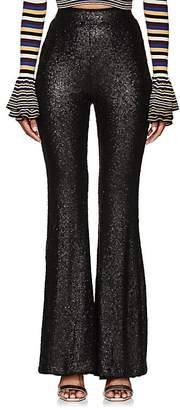 Cynthia Rowley WOMEN'S SEQUINED FLARED PANTS