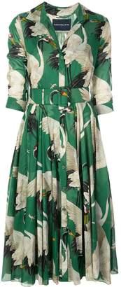 Samantha Sung bird print shirt dress