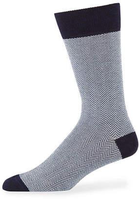 Neiman Marcus Men's Chevron Cotton Socks