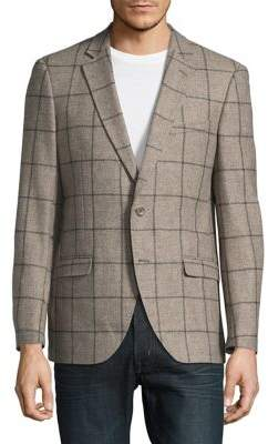 Black & Brown Black Brown Checkered Sportcoat